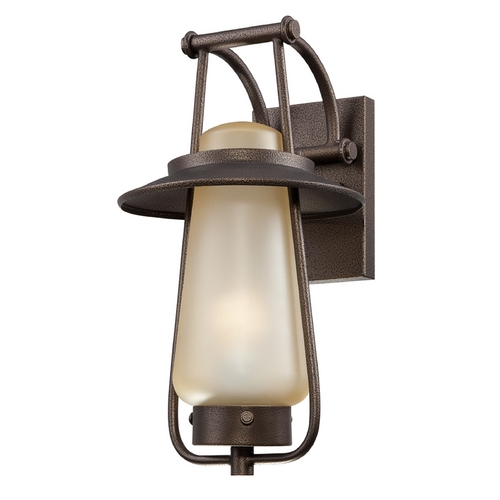 Designers Fountain Lighting Outdoor Wall Light with Beige / Cream Glass in Flemish Bronze Finish ES32031-FBZ