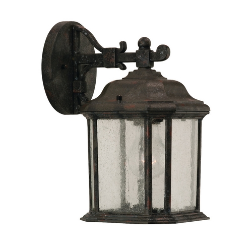 Sea Gull Lighting Outdoor Wall Light with Clear Glass in Oxford Bronze Finish 84029-746