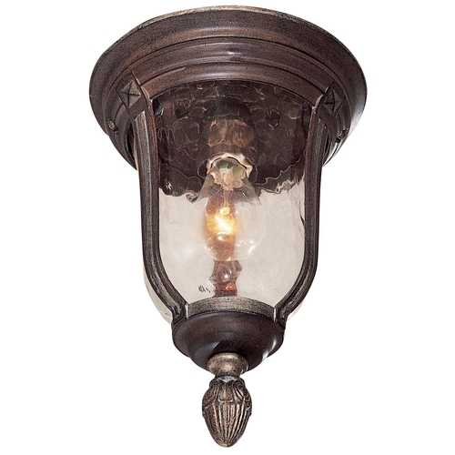 Mossoro Walnut Flushmount Outdoor Ceiling Light Fixture 8759161 W