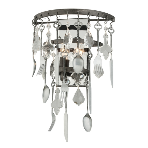 Troy Lighting Troy Lighting Bistro Graphite with Antique Pewter Flatware Sconce B3802