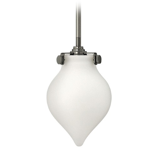 Hinkley Lighting Hinkley Lighting Congress Antique Nickel Mini-Pendant Light with Urn Shade 3135AN-GU24