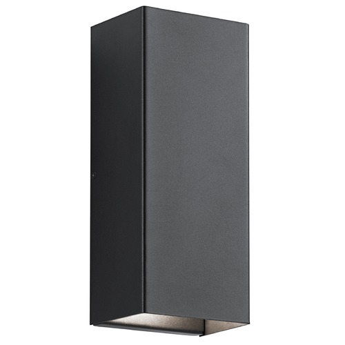 Kichler Lighting Kichler Lighting Walden Textured Black LED Outdoor Wall Light 49551BKTLED