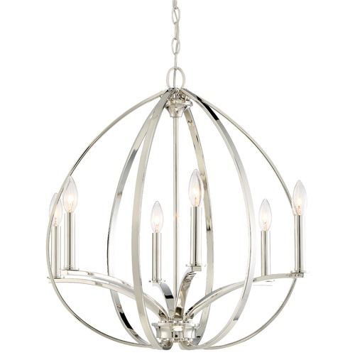 Minka Lavery Minka Tilbury Polished Nickel Chandelier 4986-613