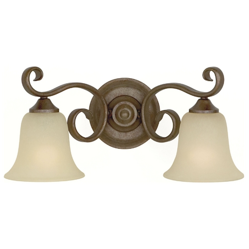 Feiss Lighting Bathroom Light with Beige / Cream Glass in Corinthian Bronze Finish VS10402-CB