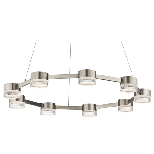 Elan Lighting Elan Lighting Avenza Brushed Nickel LED Pendant Light 83707