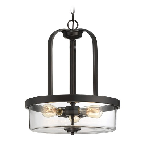 Savoy House Savoy House Lighting Tulsa English Bronze Pendant Light with Drum Shade 7-6052-3-13
