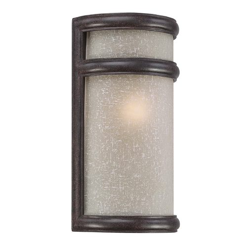 Minka Lighting Outdoor Wall Light with White Glass in Corona Bronze Finish 9812-166