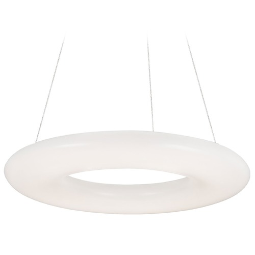 Kuzco Lighting Modern White LED Pendant with White Shade 3000K 4800LM PD80730