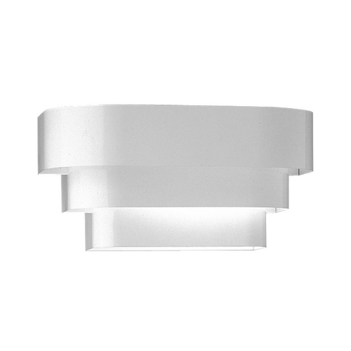Progress Lighting Progress Stepped Sconce Wall Light in White Finish P7103-30