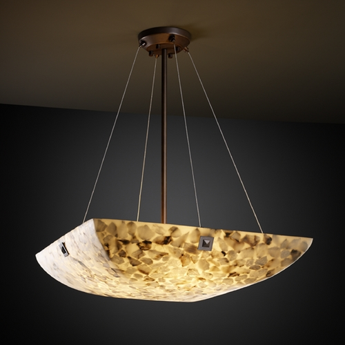 Justice Design Group Justice Design Group Alabaster Rocks! Collection Pendant Light ALR-9667-25-DBRZ-F4