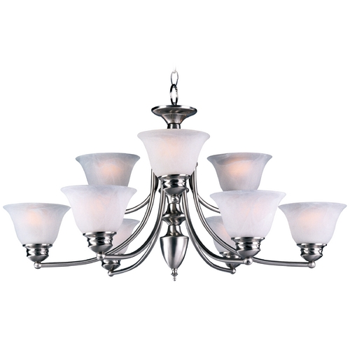 Maxim Lighting Maxim Lighting Malaga Satin Nickel Chandelier 2685FTSN
