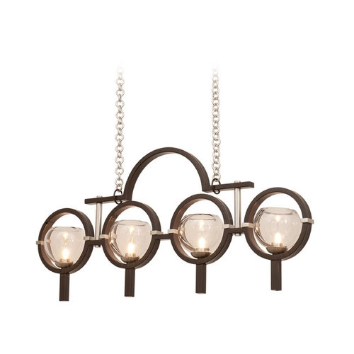 Kalco Lighting Kalco Lighting Lunaire Old Bronze Island Light with Bowl / Dome Shade 6306OB-1