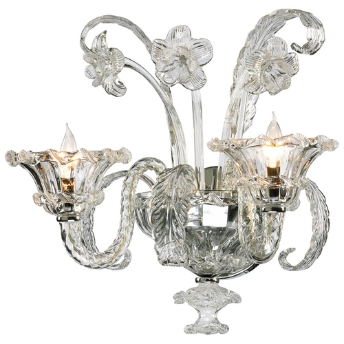 Cyan Design Cyan Design La Scala Clear with Chrome Sconce 5249-2-00
