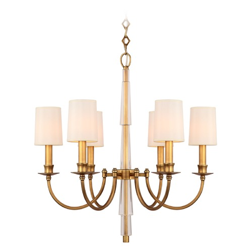 Crystorama Lighting Crystorama Lighting Lawson Aged Brass Chandelier 8706-AG