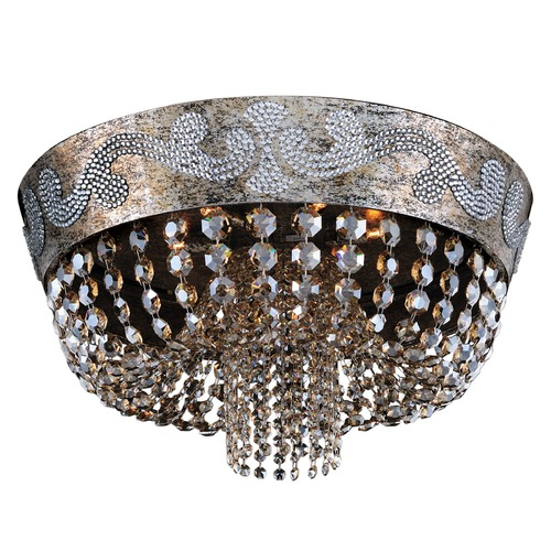Allegri Lighting Romanov 24in Dia Flush Mount 024042-006-FR005
