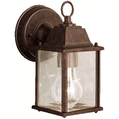 Kichler Lighting Kichler Outdoor Wall Light with Clear Glass in Tannery Bronze Finish 9794TZ