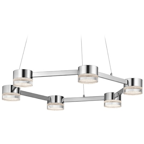 Elan Lighting Elan Lighting Avenza Chrome LED Pendant Light 83708