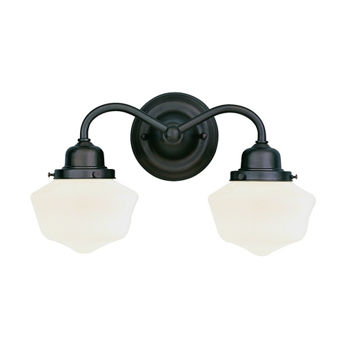 Hudson Valley Lighting Bathroom Light with White Glass in Satin Nickel Finish 4602-SN