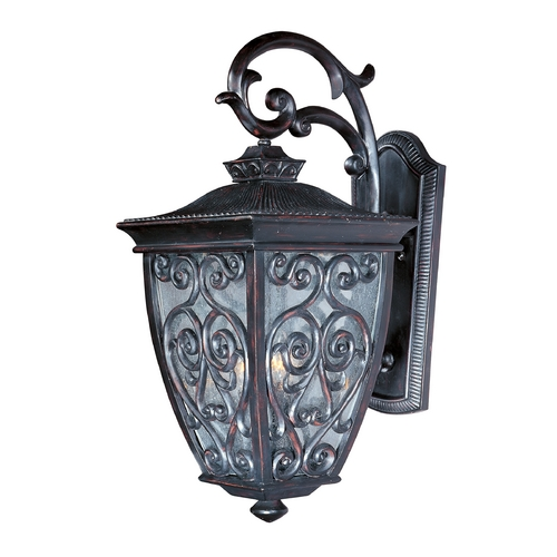 Maxim Lighting Outdoor Wall Light with Clear Glass in Oriental Bronze Finish 40125CDOB