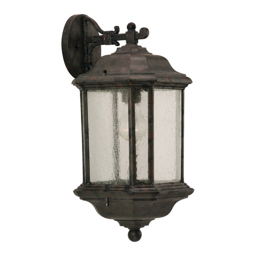 Sea Gull Lighting Outdoor Wall Light with Clear Glass in Oxford Bronze Finish 84030-746