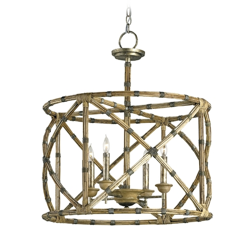Currey and Company Lighting Modern Pendant Light in Pyrite Bronze Finish 9694