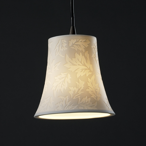 Justice Design Group Justice Design Group Limoges Collection Mini-Pendant Light POR-8815-20-LEAF-DBRZ