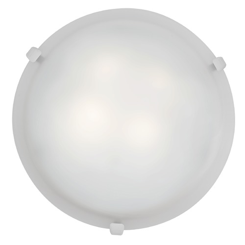 Access Lighting Access Lighting Mona White LED Flushmount Light 23019LEDD-WH/WH