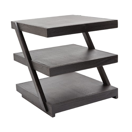 Dimond Home Stacked Black Teak Side Table 784060