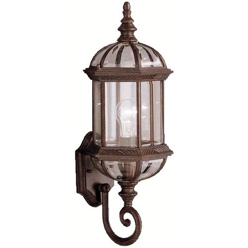 Kichler Lighting Kichler Outdoor Wall Light with Clear Glass in Tannery Bronze Finish 9736TZ