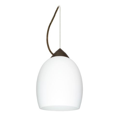 Besa Lighting Besa Lighting Lucia Bronze LED Mini-Pendant Light with Bell Shade 1KX-169707-LED-BR