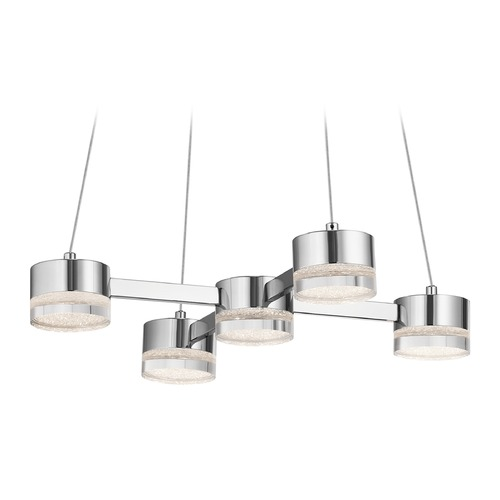 Elan Lighting Elan Lighting Avenza Chrome LED Pendant Light 83710