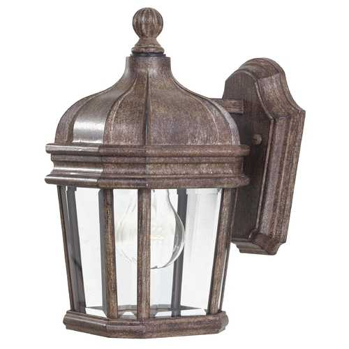 Minka Lavery Outdoor Wall Light with Clear Glass in Vintage Rust Finish 8690-61