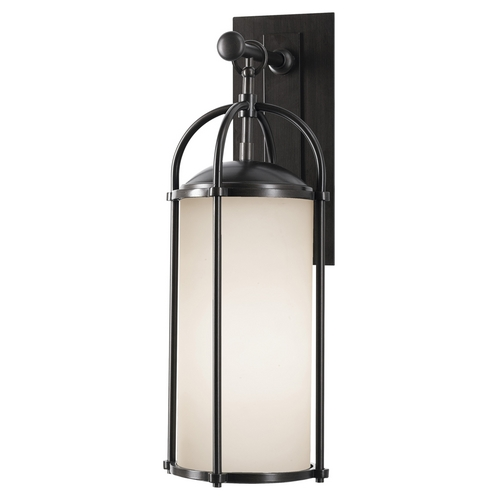 Feiss Lighting Modern Outdoor Wall Light with White Glass in Espresso Finish OL7601ES