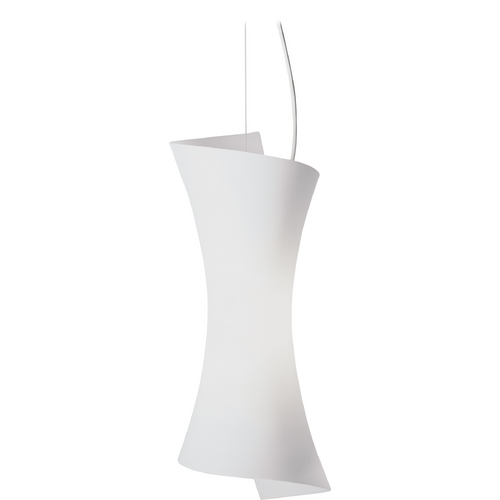 ET2 Lighting Modern Mini-Pendant Light with White Glass E20419-09