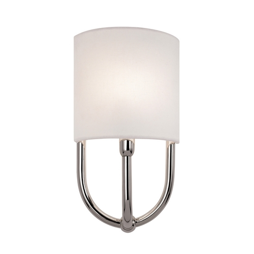 Sonneman Lighting Sconce Wall Light with White Shade in Polished Nickel Finish 1833.35