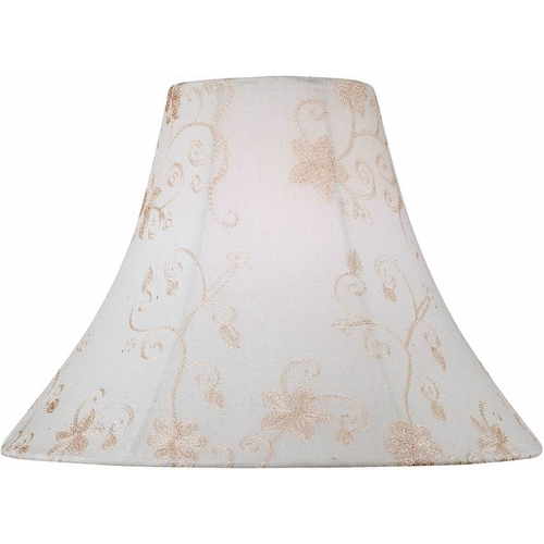 Lite Source Lighting Jacquard Cream Bell Lamp Shade with Spider Assembly CH1144-16
