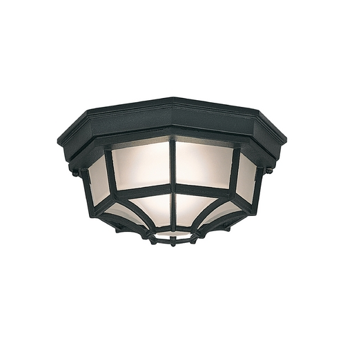 Designers Fountain Lighting Close To Ceiling Light with White Glass in Black Finish 2067-BK
