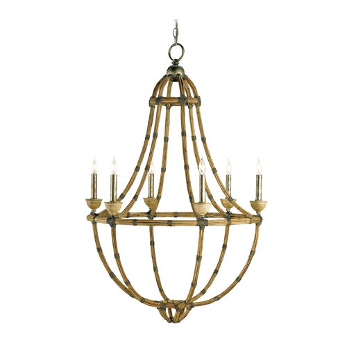 Currey and Company Lighting Modern Chandelier in Pyrite Bronze Finish 9693