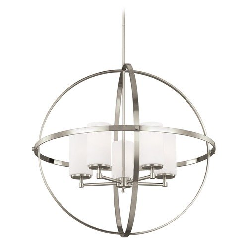 Sea Gull Lighting Sea Gull Lighting Alturas Brushed Nickel LED Chandelier 3124605EN3-962