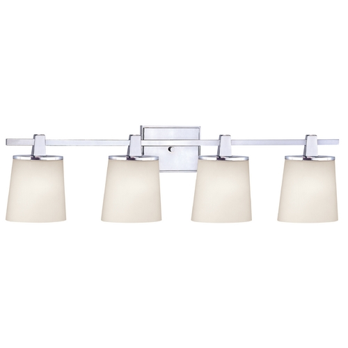 Dolan Designs Lighting Bathroom Light with White Glass in Chrome Finish 3784-26