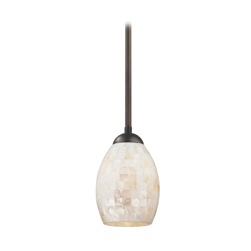 Design Classics Lighting Mini-Pendant Light with Mosaic Glass 581-220 GL1034