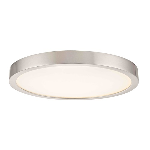 Design Classics Lighting Design Classics Gem Satin Nickel LED Flushmount Light 10279-SN