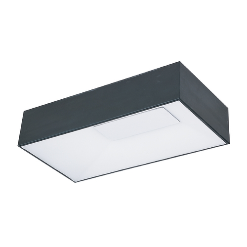 ET2 Lighting Modern LED Flushmount Light in Black Finish E21366-61BK