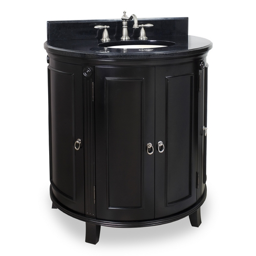 Hardware Resources Bathroom Vanity in Espresso Finish - Pre Assembled Top and Bowl VAN056-T
