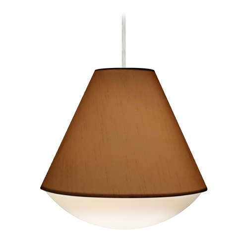Besa Lighting Besa Lighting Reflex Satin Nickel LED Pendant Light with Empire Shade 1JT-RFLXTO-LED-SN