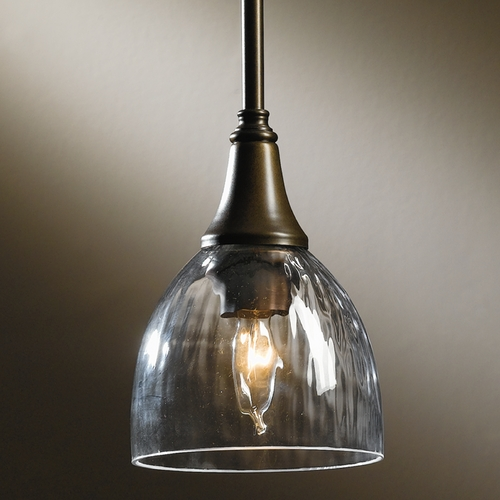 Hubbardton Forge Lighting Hubbardton Forge Lighting Trumpet Bronze Mini-Pendant Light with Bowl / Dome Shade 182640-SKT-STND-05-LL0001
