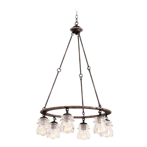Kalco Lighting Kalco Lighting Brierfield Antique Copper Chandelier 6310AC