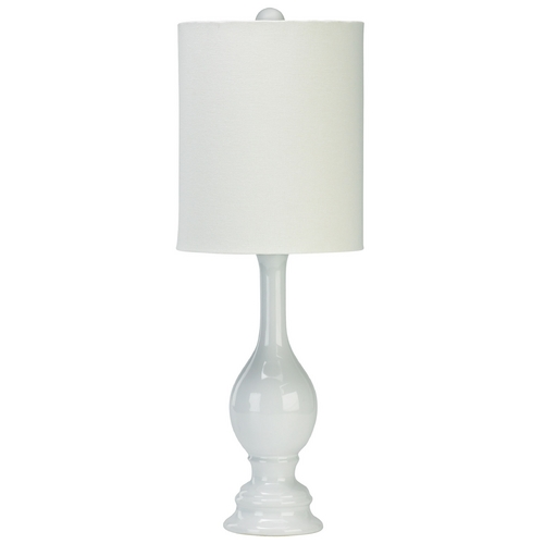 Cyan Design Cyan Design White Table Lamp with Cylindrical Shade 02089