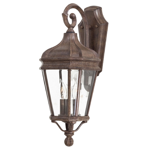 Minka Lavery Outdoor Wall Light with Clear Glass in Vintage Rust Finish 8691-61