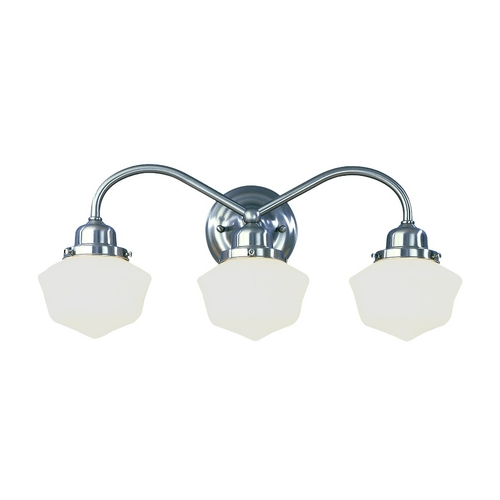 Hudson Valley Lighting Bathroom Light with White Glass in Polished Nickel Finish 4603-PN